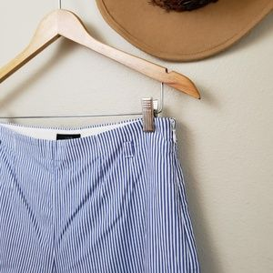 J. Crew Pants - J. Crew cuffed wide leg crop pant shirting stripe